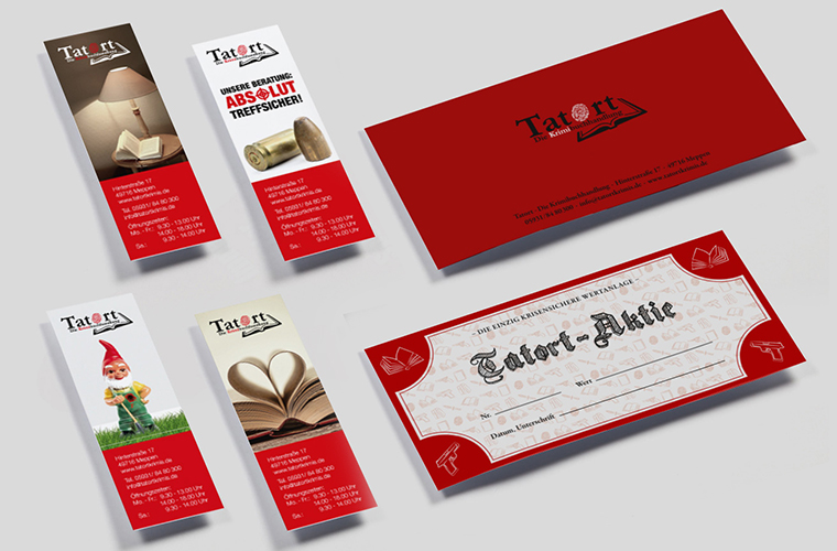 Corporate Design Buchhandlung Plakate